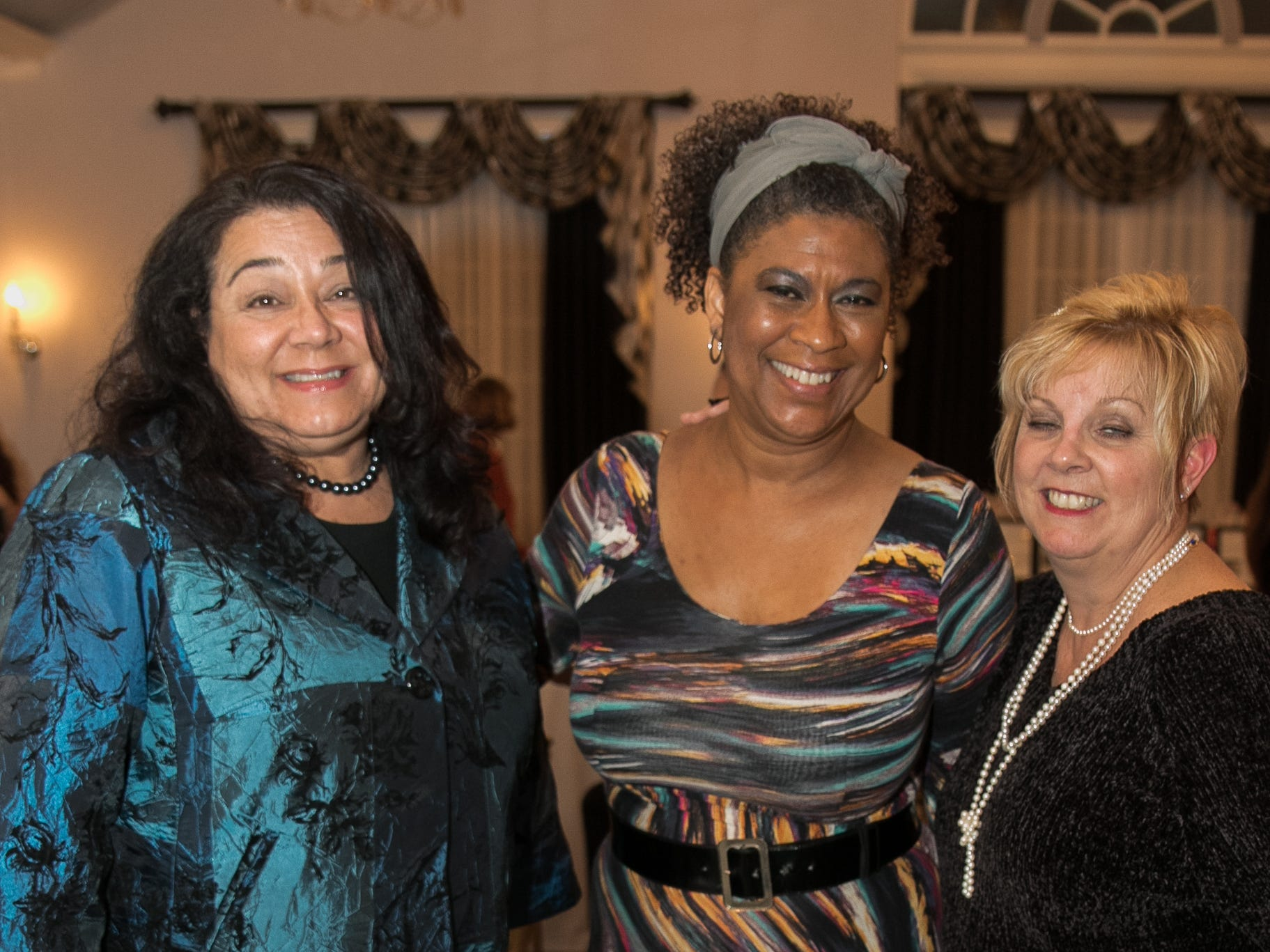 Chris Gillespie, Lynne Algramt, Debbie Emery. The Bergen Volunteer Center celebrated its 10th anniversary of the Bergen LEADS program at The Hearts of Gold Dinner and Auction at the Stony Hill Inn in Hackensack. 11/08/2018