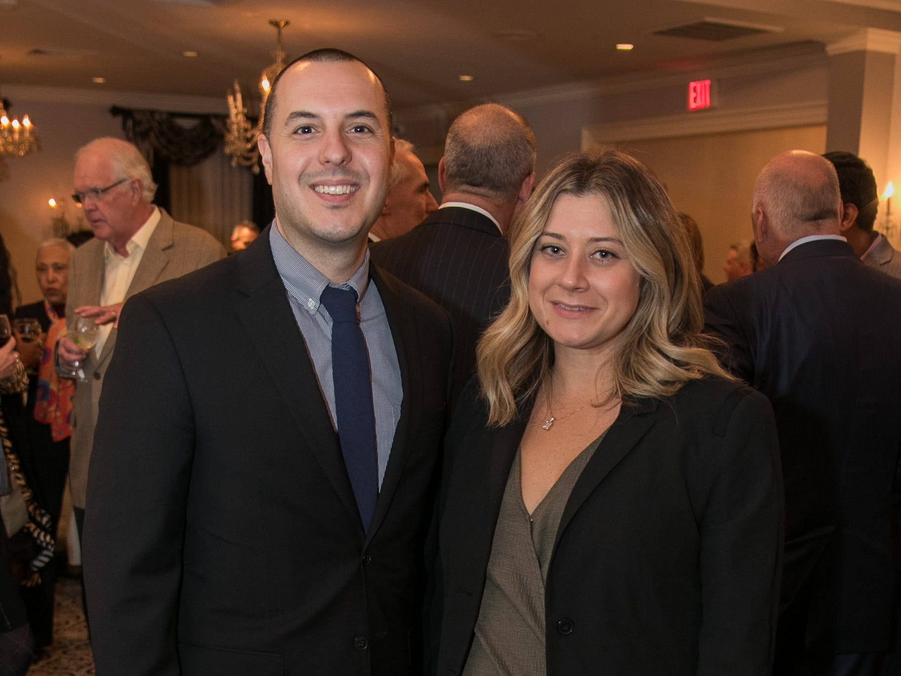 Frank DiDolci, Jaime Marley. The Bergen Volunteer Center celebrated its 10th anniversary of the Bergen LEADS program at The Hearts of Gold Dinner and Auction at the Stony Hill Inn in Hackensack. 11/08/2018