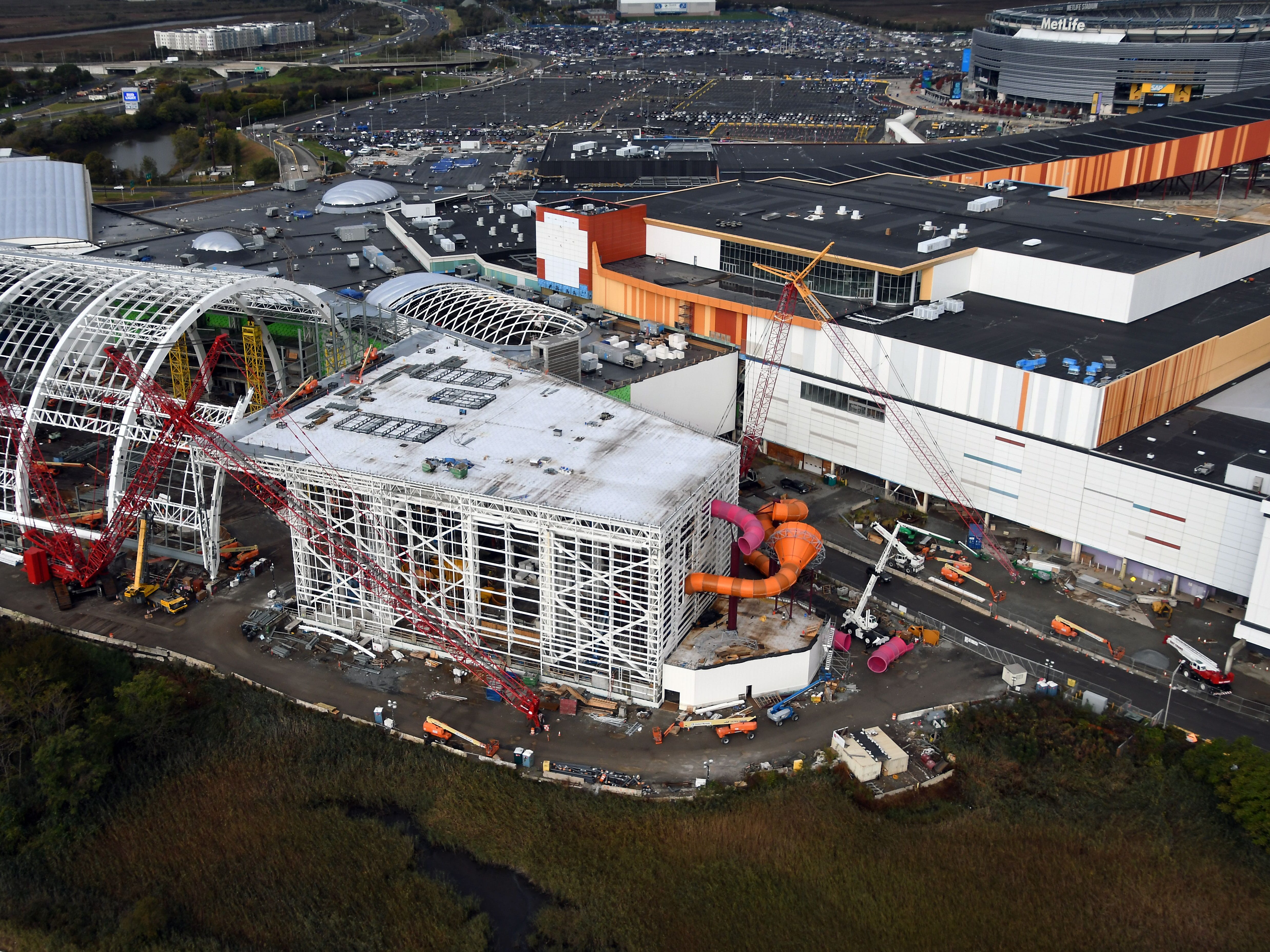 See the progress on the American Dream water park, now taking shape