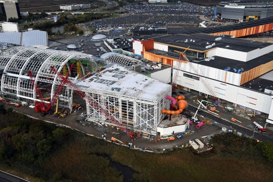 american dream s indoor water park takes shape body slide now visible