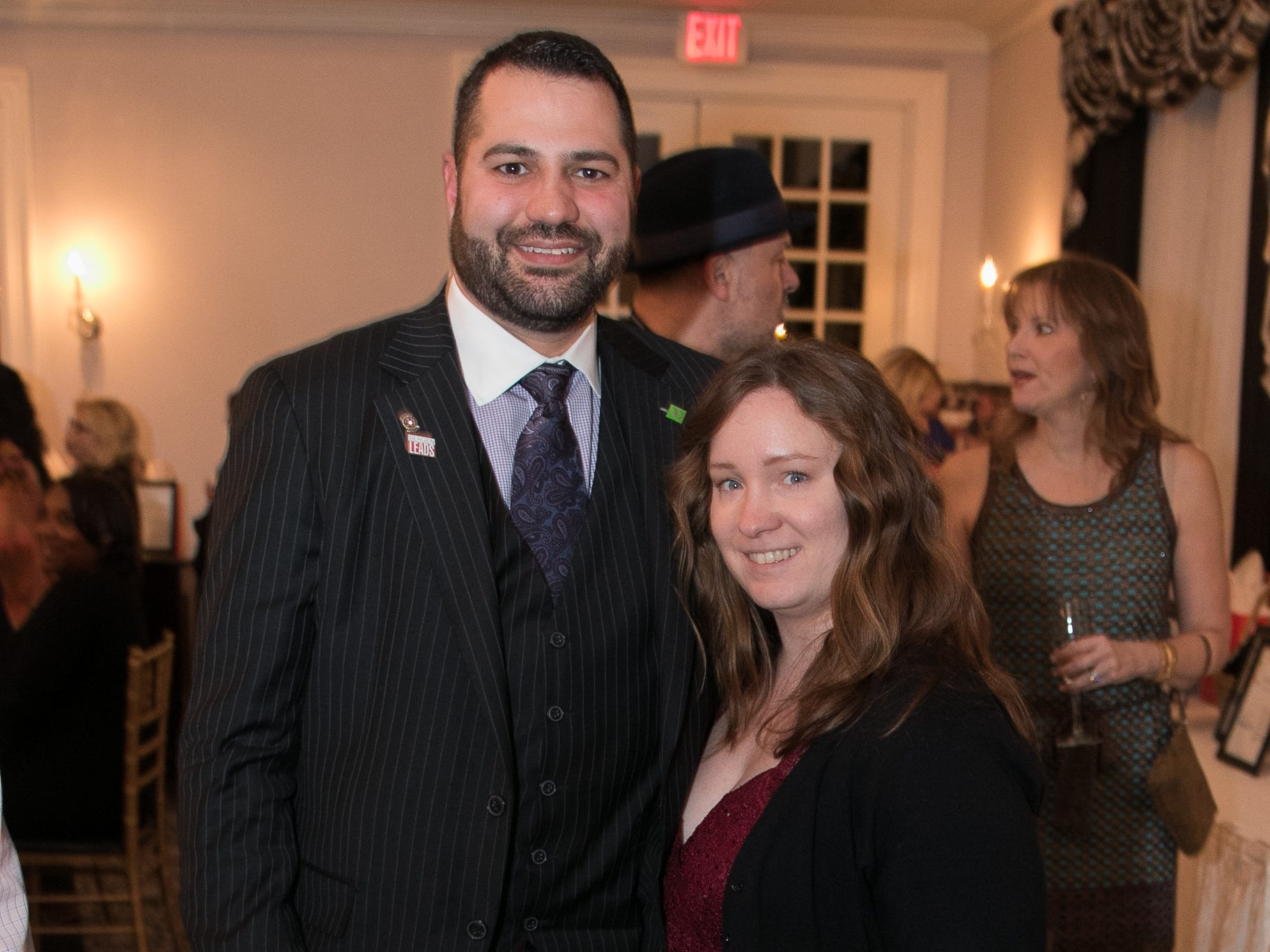 Joe and Nicole Chinnici. The Bergen Volunteer Center celebrated its 10th anniversary of the Bergen LEADS program at The Hearts of Gold Dinner and Auction at the Stony Hill Inn in Hackensack. 11/08/2018