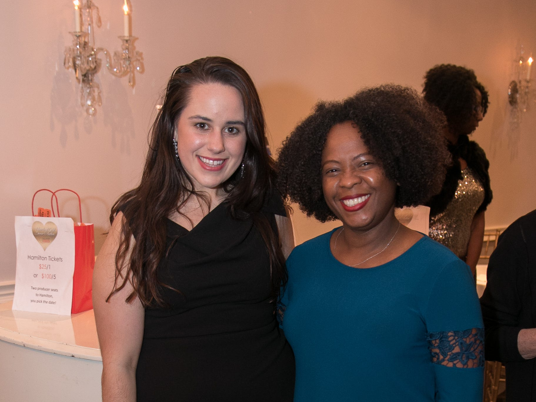 Elizabeth Reich, Phillicia DaCosta. The Bergen Volunteer Center celebrated its 10th anniversary of the Bergen LEADS program at The Hearts of Gold Dinner and Auction at the Stony Hill Inn in Hackensack. 11/08/2018