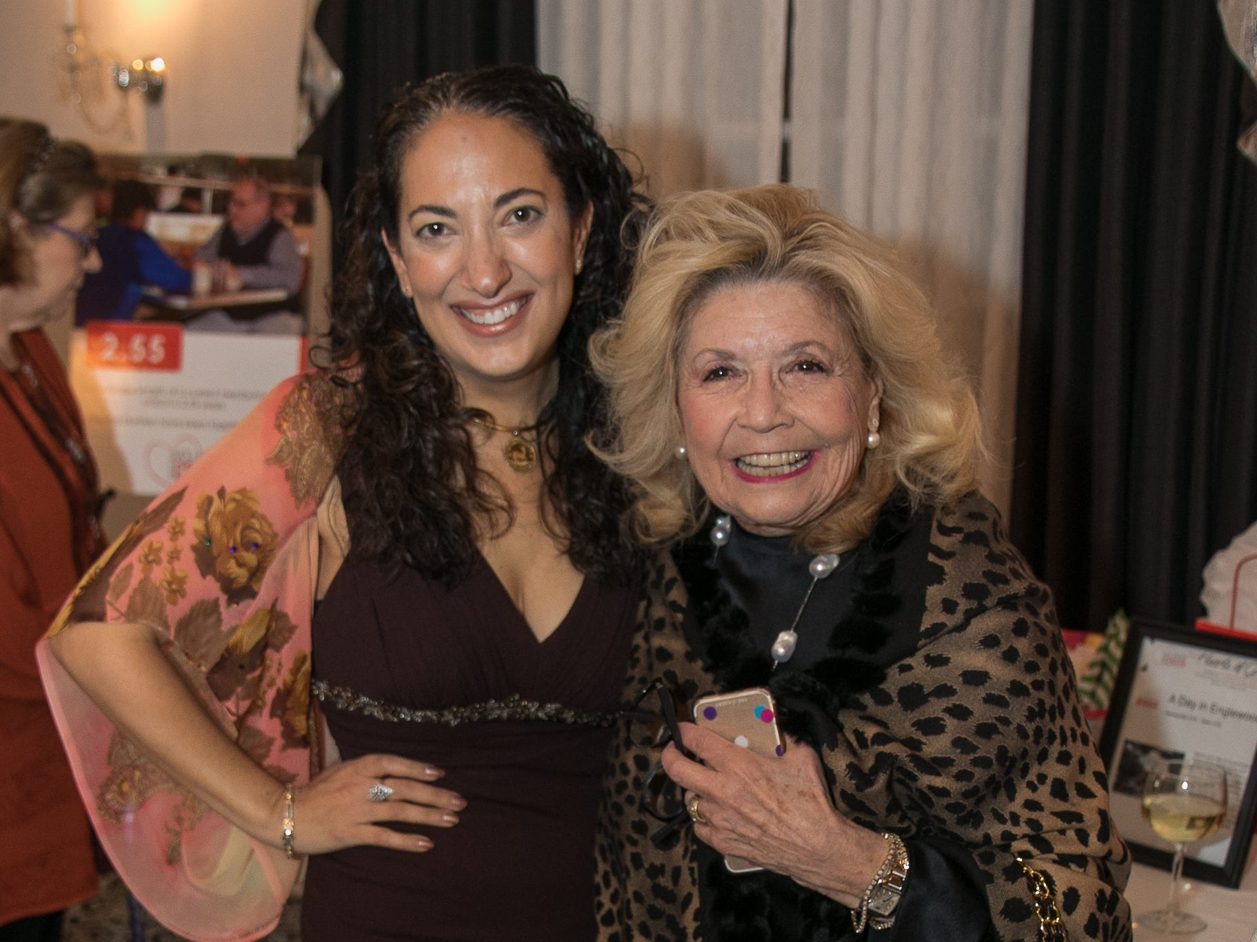 Maria Repole, Felicia Leleibman. The Bergen Volunteer Center celebrated its 10th anniversary of the Bergen LEADS program at The Hearts of Gold Dinner and Auction at the Stony Hill Inn in Hackensack. 11/08/2018