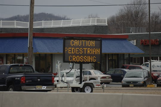 A file photograph at the intersection of Route 23 and Kiel Avenue in Butler which is a perilous crossing for pedestrians.