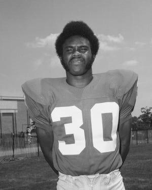 Ron Johnson, running back, New York Giants, July 24, 1972. (AP Photo/Ray Stubblebine)
