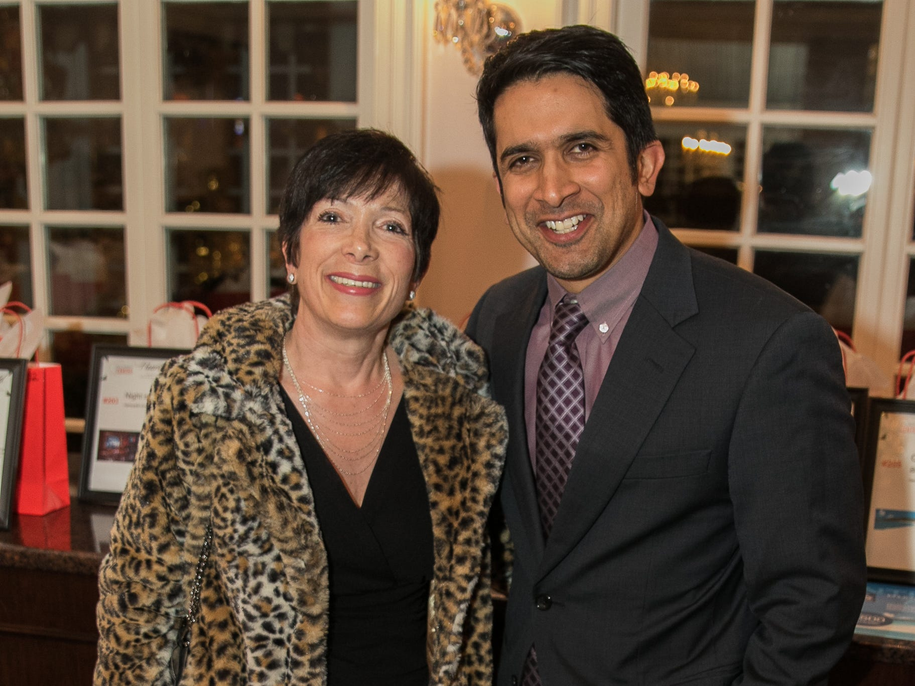 Marlene Ceragno, Shourn Chakravarti. The Bergen Volunteer Center celebrated its 10th anniversary of the Bergen LEADS program at The Hearts of Gold Dinner and Auction at the Stony Hill Inn in Hackensack. 11/08/2018