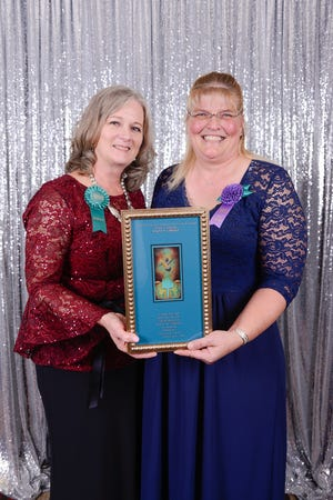 Kimberly Gililland, manager at Lincoln County Family Birthing Center receives honors for excellence in nursing.