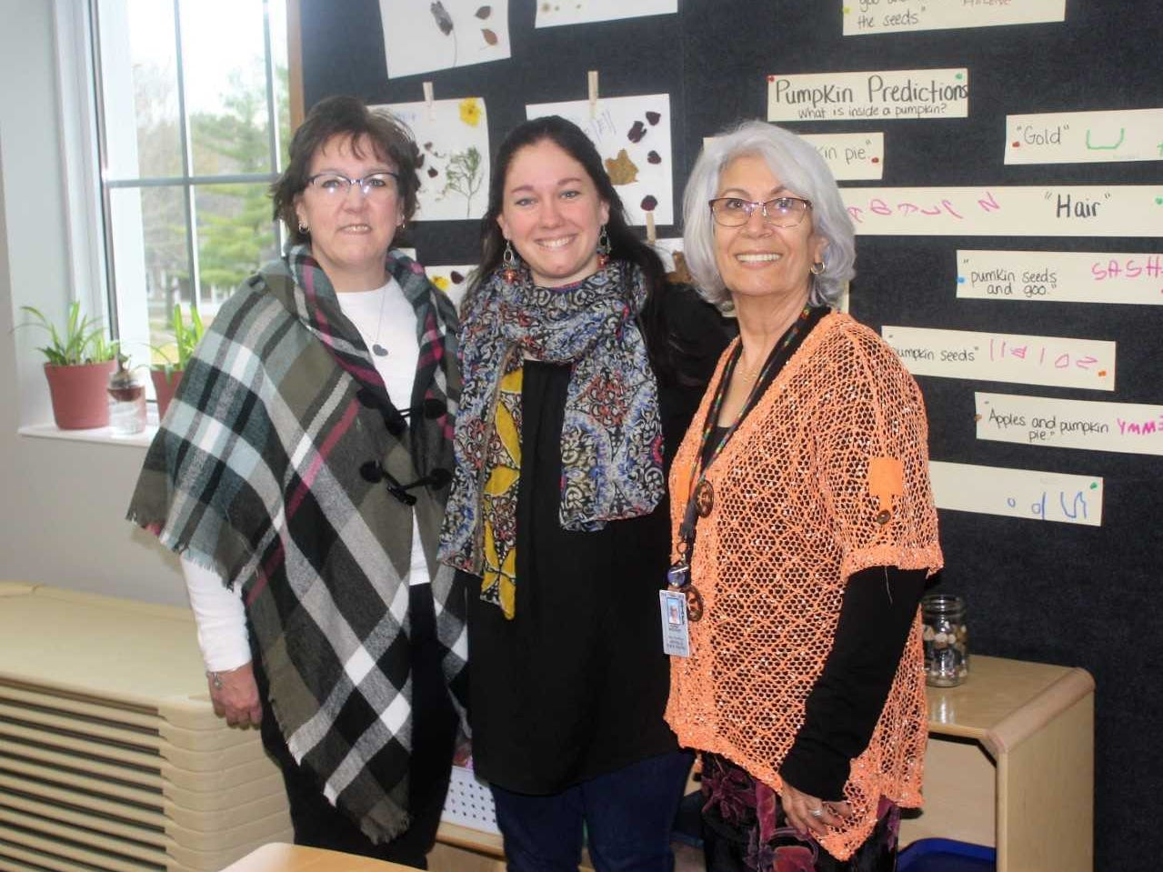 Pictured (from left) are early childhood education teachers Sue Cowher, Sarah Hoppenworth and Sued Howcari.