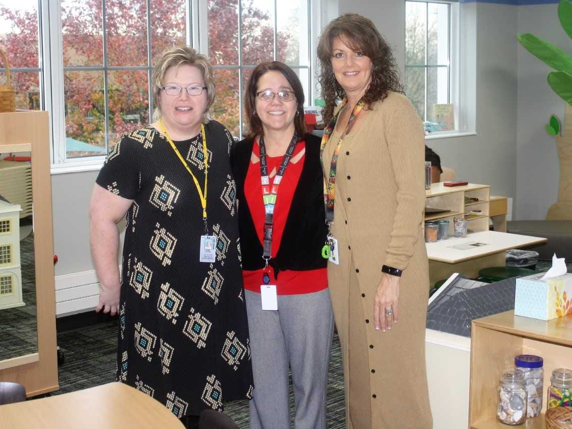 Pictured (from left) are early childhood education teachers Hope Doring, Trina Oinoina and Sandi Maynard.