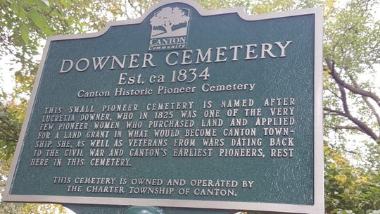 The Downer Cemetery, located off the beaten path in Canton, is named for Lucretia Downer, an early Canton landowner.