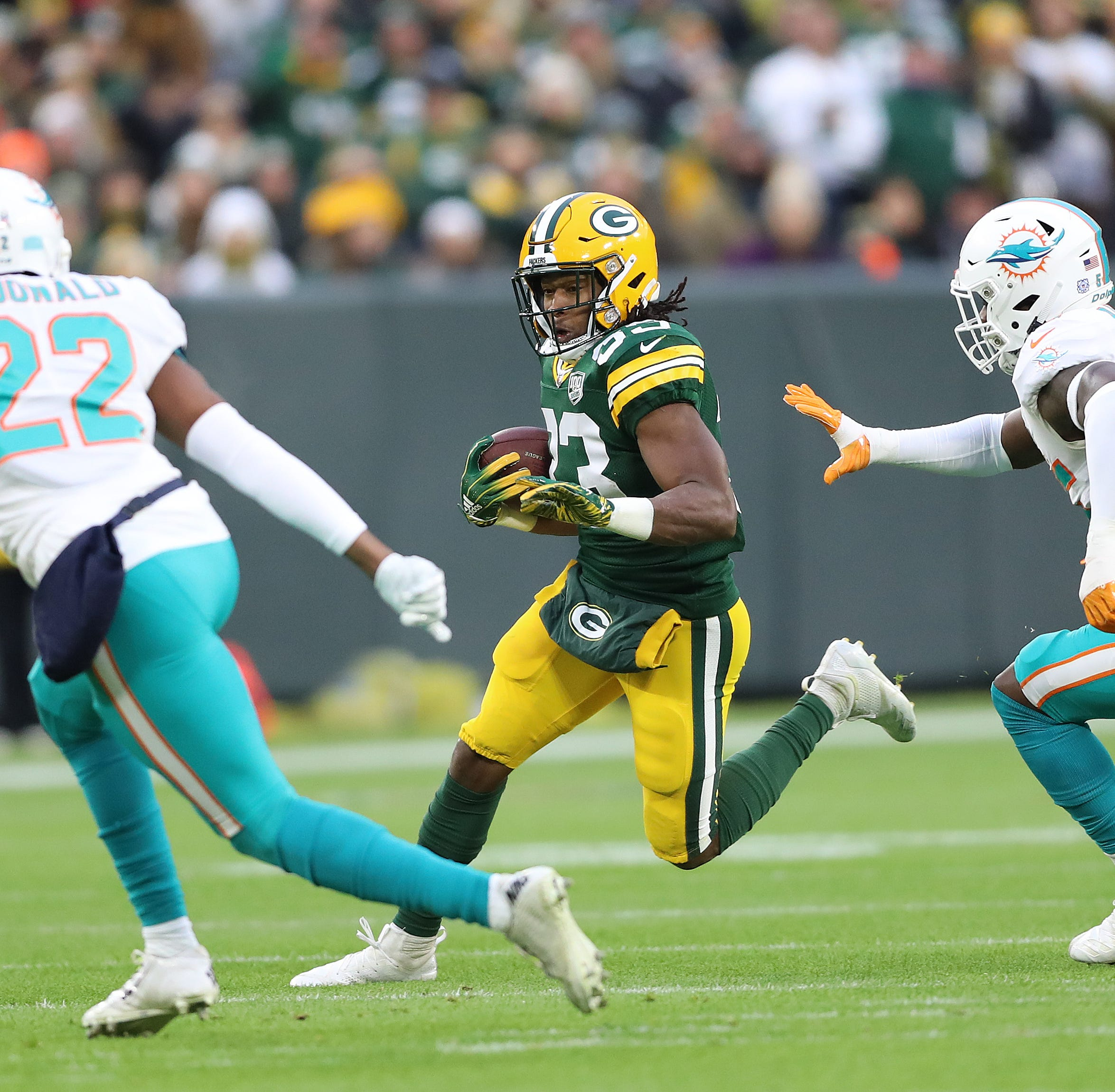 Aaron Jones makes impact among top Packers rushing performances in Aaron Rodgers era