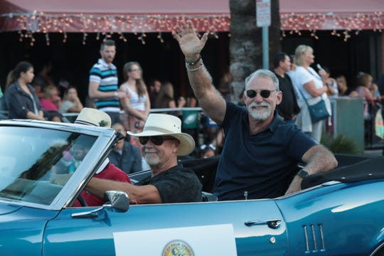 City Councilman J.R. Roberts rides in the Palm Springs Veterans Day Parade, Sunday, November 11, 2018.