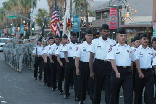 Palm Springs holds its annual Veterans Day Parade, Sunday, November 11, 2018.