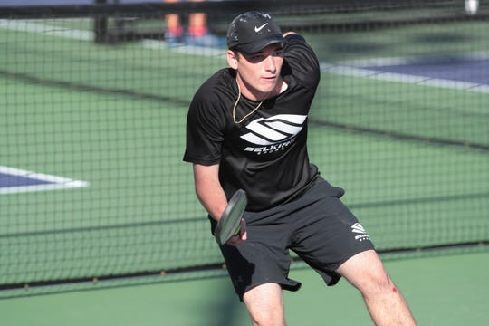 Jack Foster competes at the 2018 Margaritaville USA Pickleball National Championships is held at the Indian Wells Tennis Garden, Sunday, November 11, 2018.