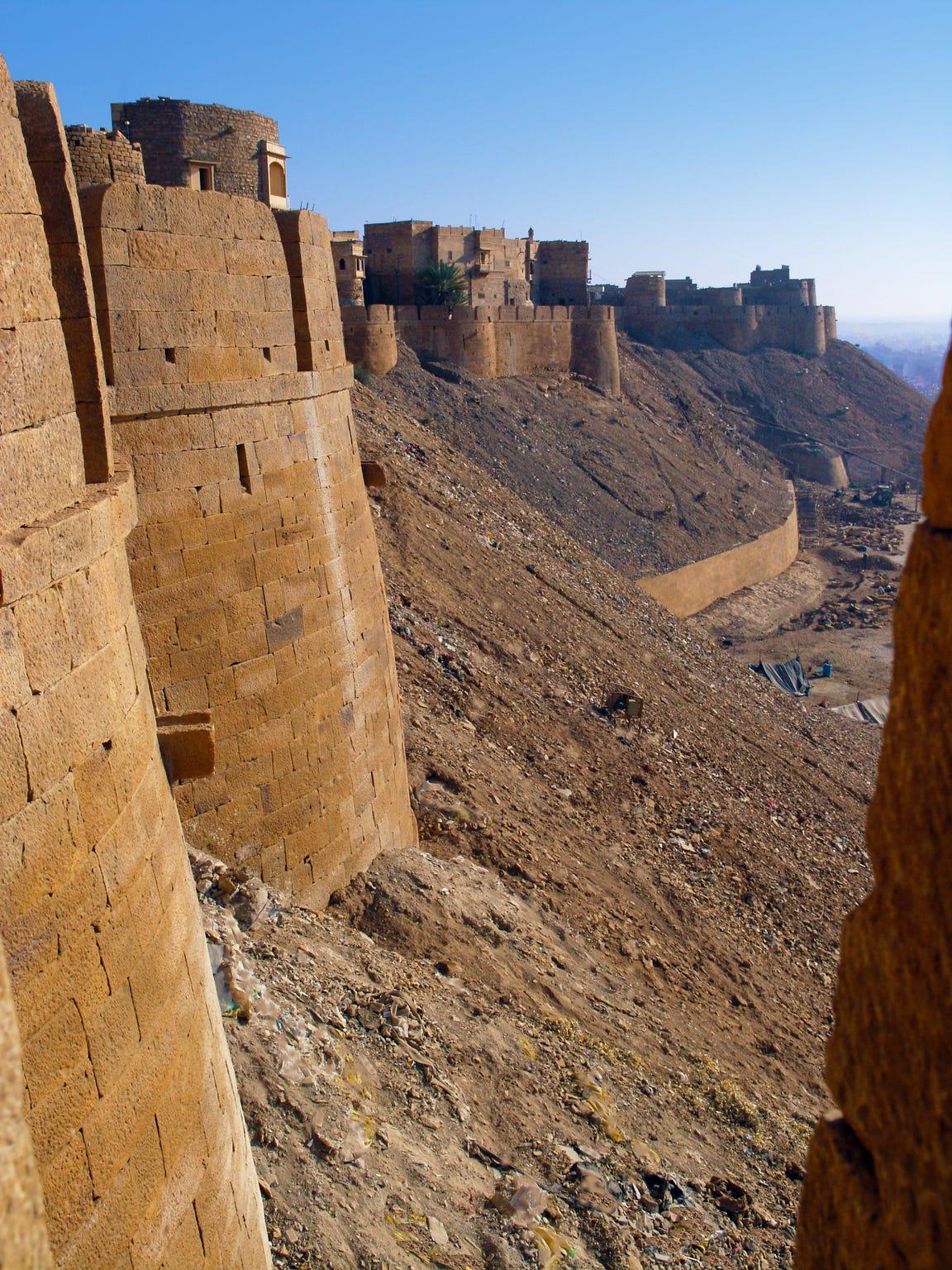 Walls of ancient city of Jaisalmer