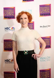 Kathy Griffin received the Comedian of the Year award at the inaugural Palm Springs International Comedy Festival Awards Gala at Hotel Zoso in Palm Springs on November 10, 2018.