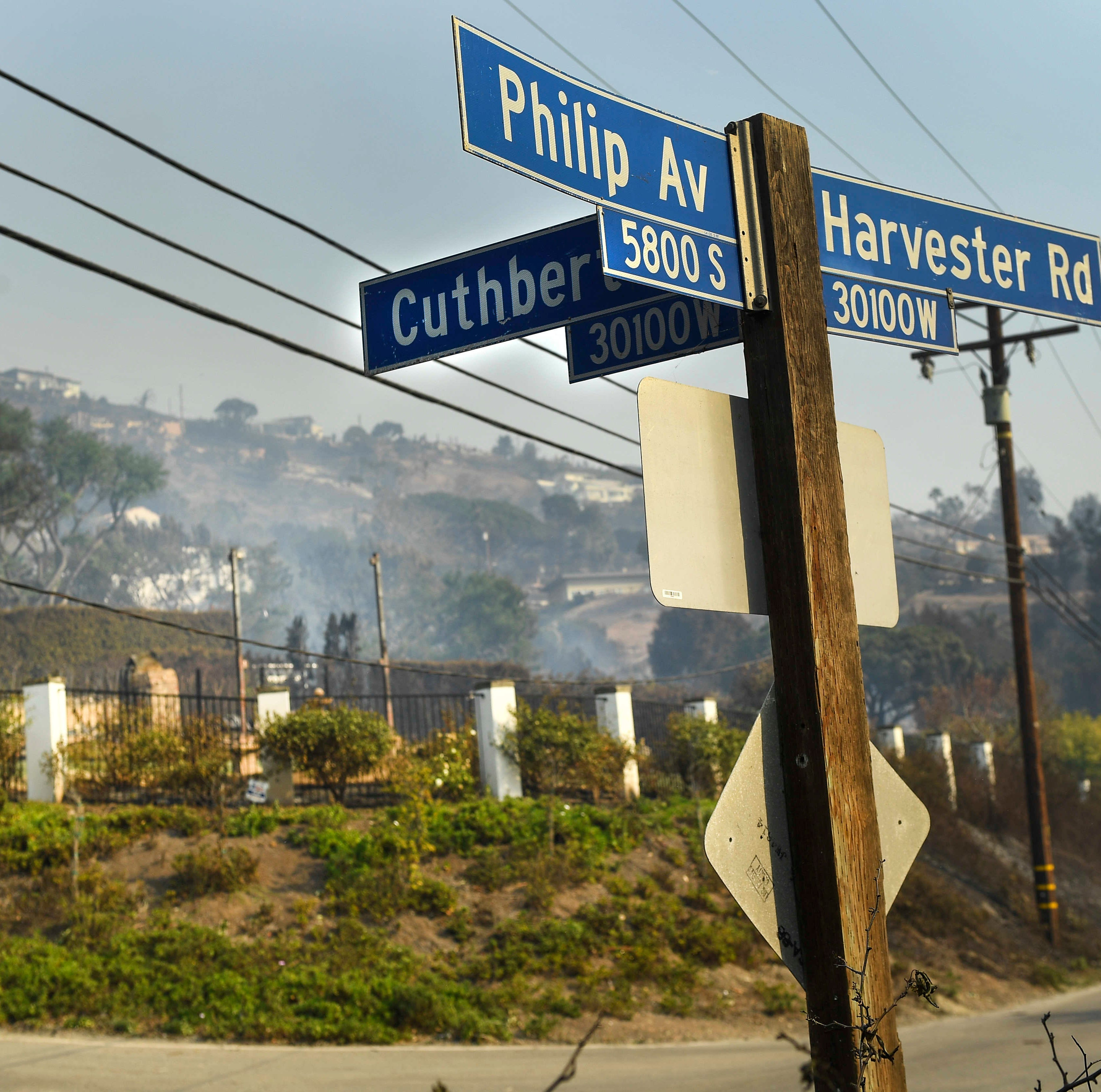 Here's what one street in Malibu looks like after a wildfire ripped through