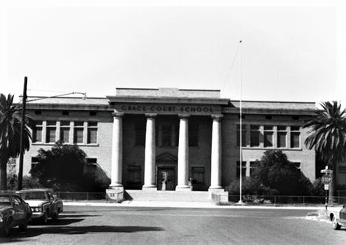 The Grace Court School now stands as an office building.