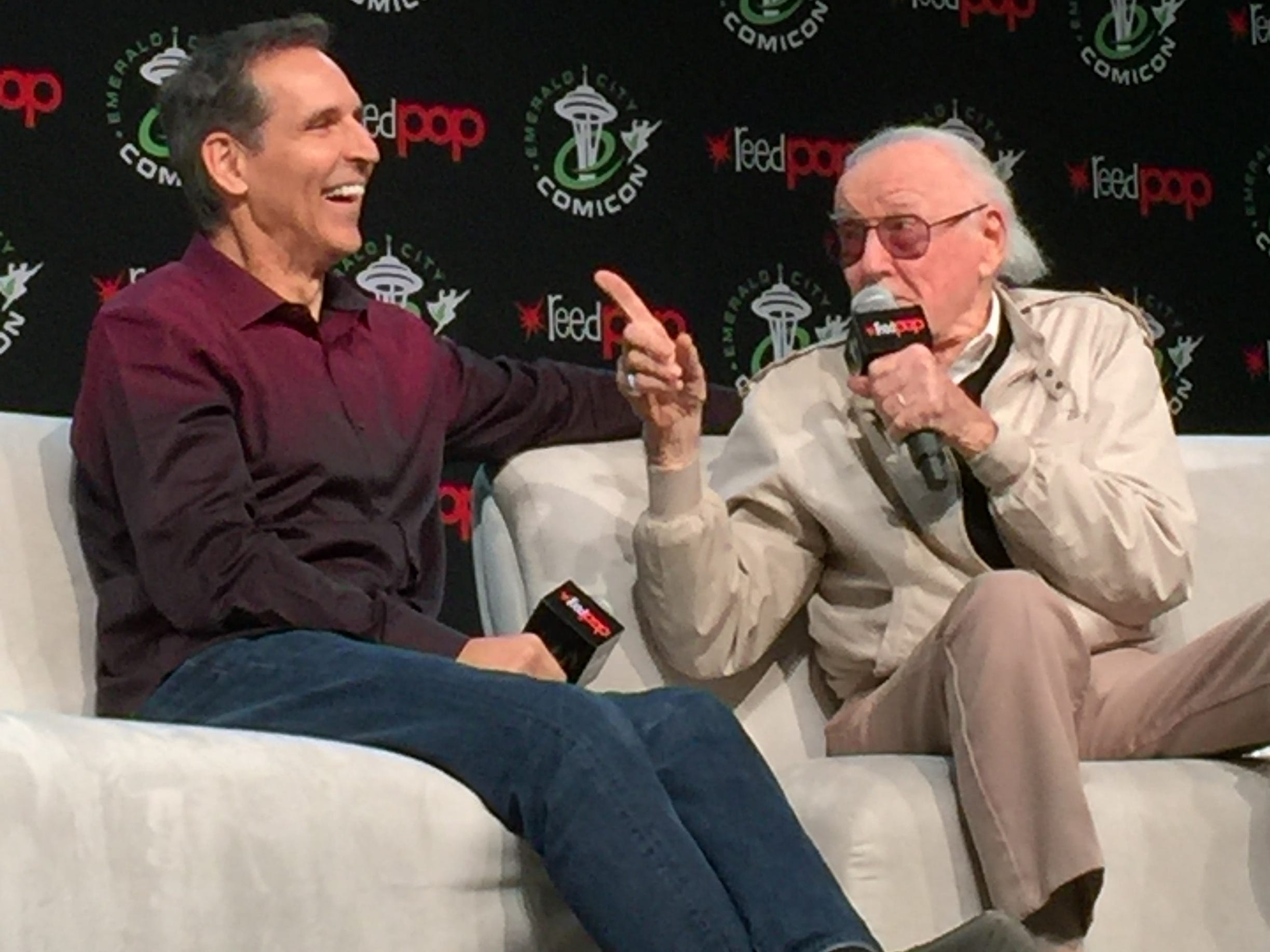 Todd McFarlane and Stan Lee.