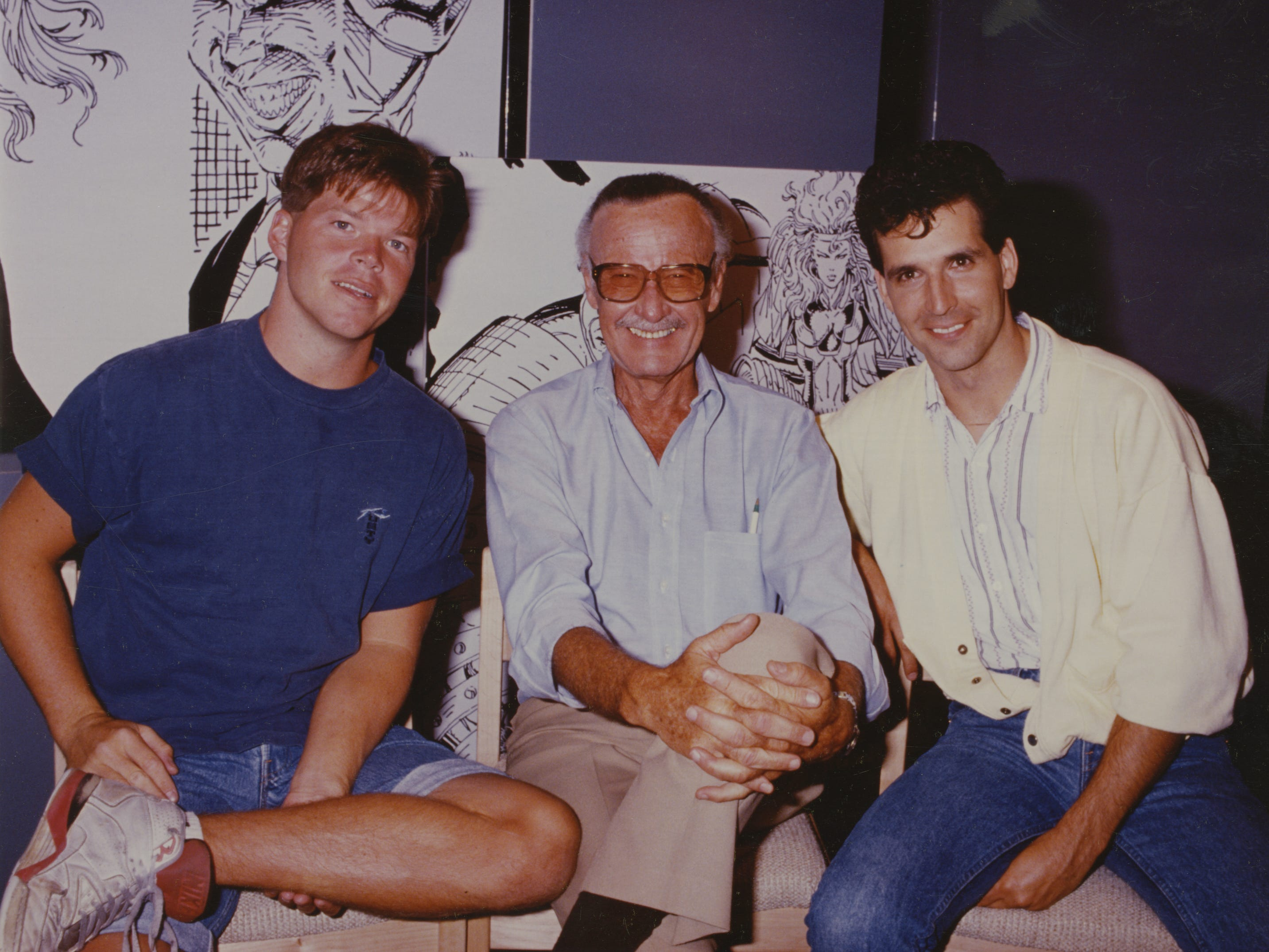 (From left) Rob Liefeld, Stan Lee and Todd McFarlane.