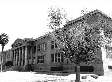 The Phoenix Children's Museum, sitting directly east of Heritage Square Park, used to be the Monroe School.