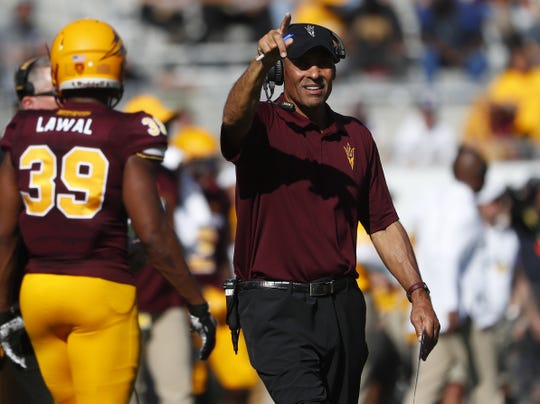 Herm Edwards led Arizona State to a record of 7-6 in his first season at the helm.