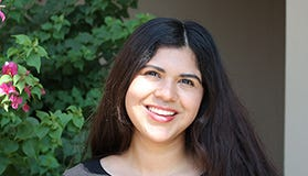 Alejandra Maya is now involved with Maricopa County Community College District's Student public policy Forum, GCC student government board member, honors program, and is a Phi Theta Kappa, Omicron Lambda officer.