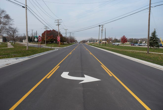 Huron Boulevard in Marysville was reduced from four lanes to three. The road has one travel lane in each direction and a center turn lane, instead of two travel lanes in each direction.