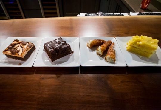 Several desert items offered at Mannina's Wine House in St. Clair.