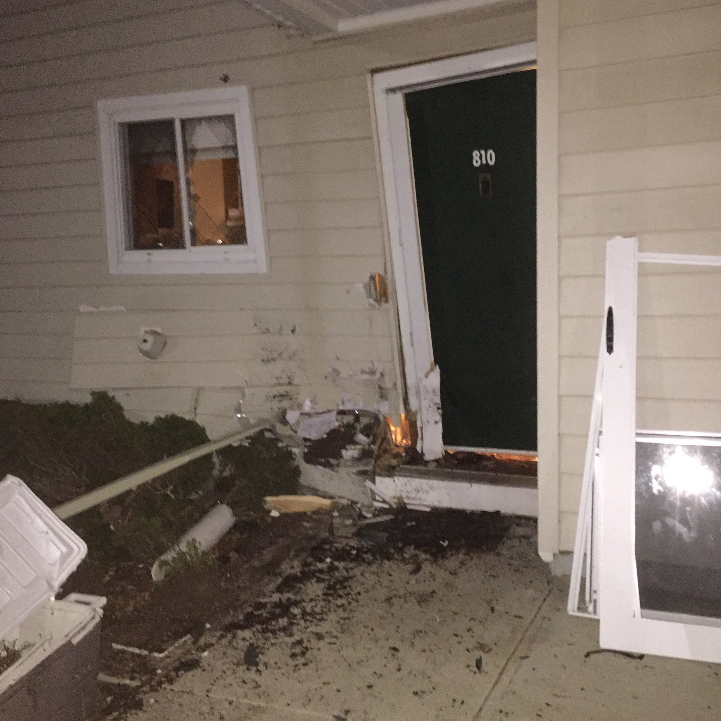 A 22-year-old man crashed his vehicle into a New Paltz residence Sunday morning near 5 a.m., police said.
