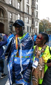 Wappingers Falls' Jonathan Brunot poses after running the New York City Marathon.