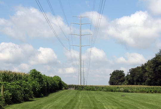 Transource Energy proposes erecting 135-foot monopoles to hold a high voltage power transmission line for 29 miles through Franklin County.