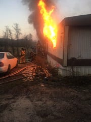 Fire crews made short work of a mobile-home fire on Haven Drive in Lower Windsor twp. on Nov. 11, 2018, according to East Prospect Fire Chief Jerry Hanson. But while crews saved residents' possessions, the trailer might be a total loss, he said.