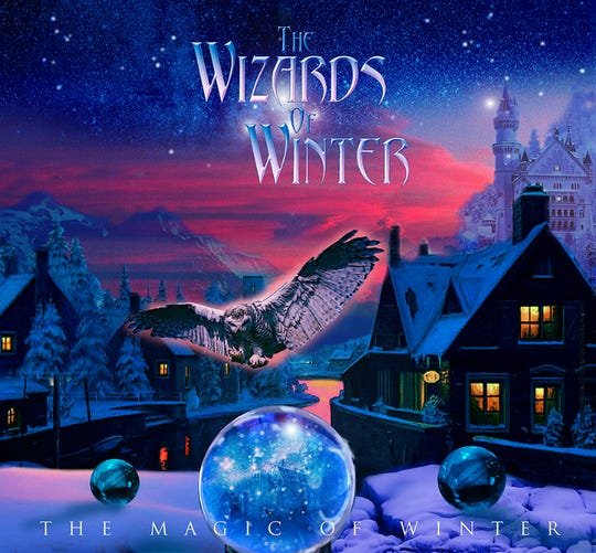 "Album art for ""The Magic of Winter,"" the Wizards of Winter's second full-length album, released in 2015."