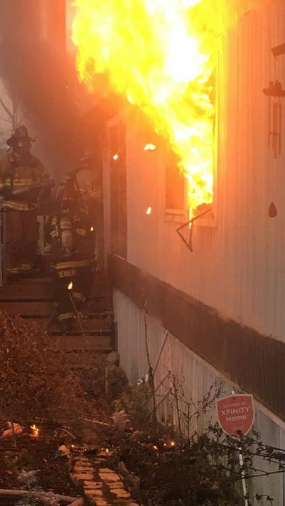Lower Windsor Twp. mobile-home fire