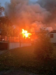 The call for the fire came in just before 5 p.m., according to York County 911.