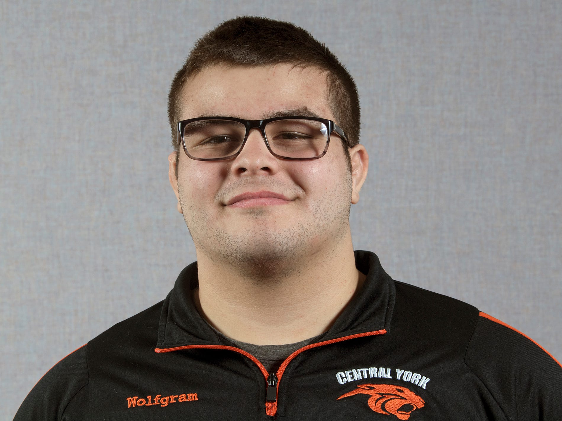 Michael Wolfgram, of the Central York wrestling team, during the 2018-19 GameTimePa YAIAA Winter Media Day Sunday November 11, 2018.