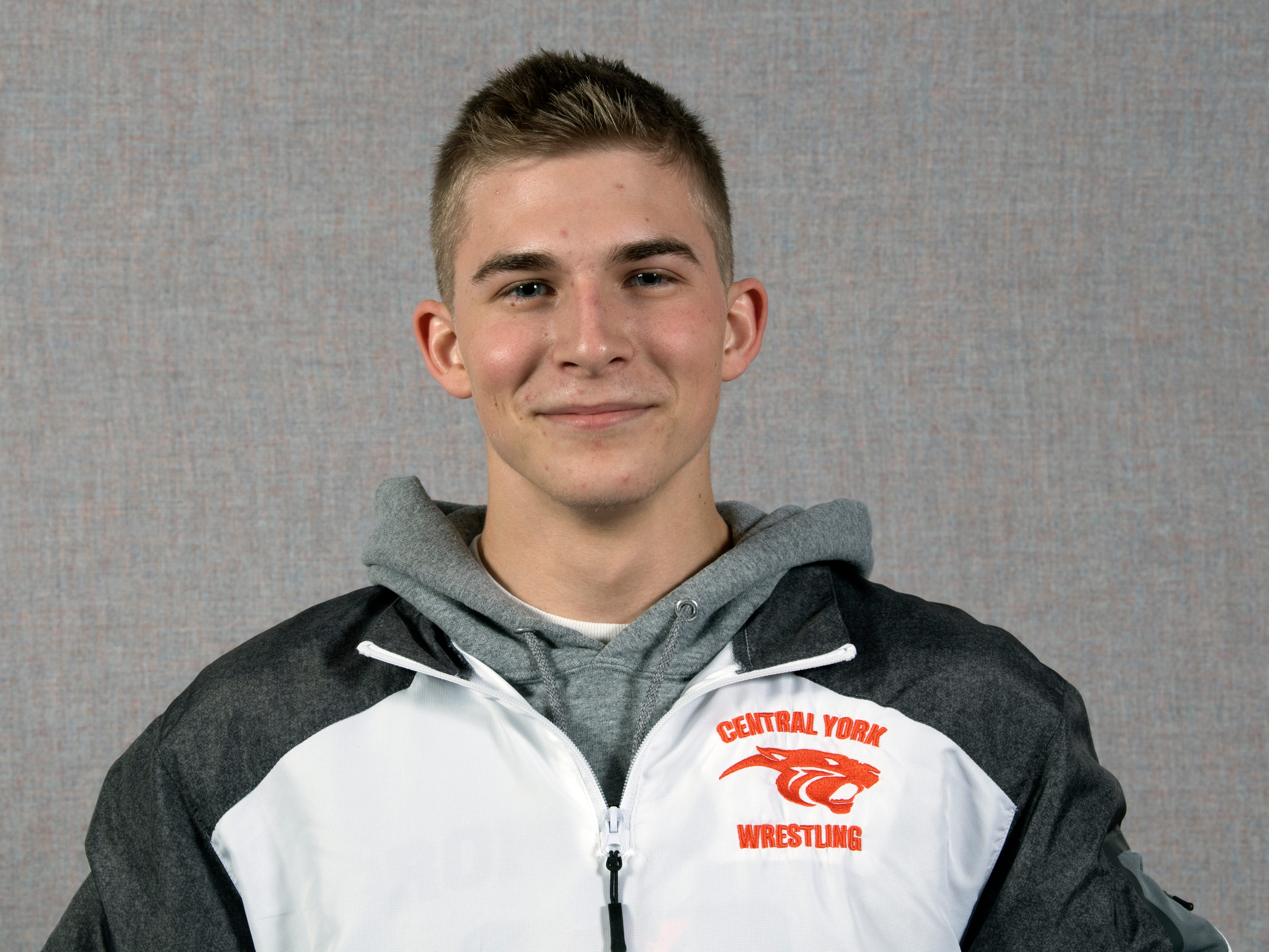 Logan Paluch, of the Central York wrestling team, during the 2018-19 GameTimePa YAIAA Winter Media Day Sunday November 11, 2018.