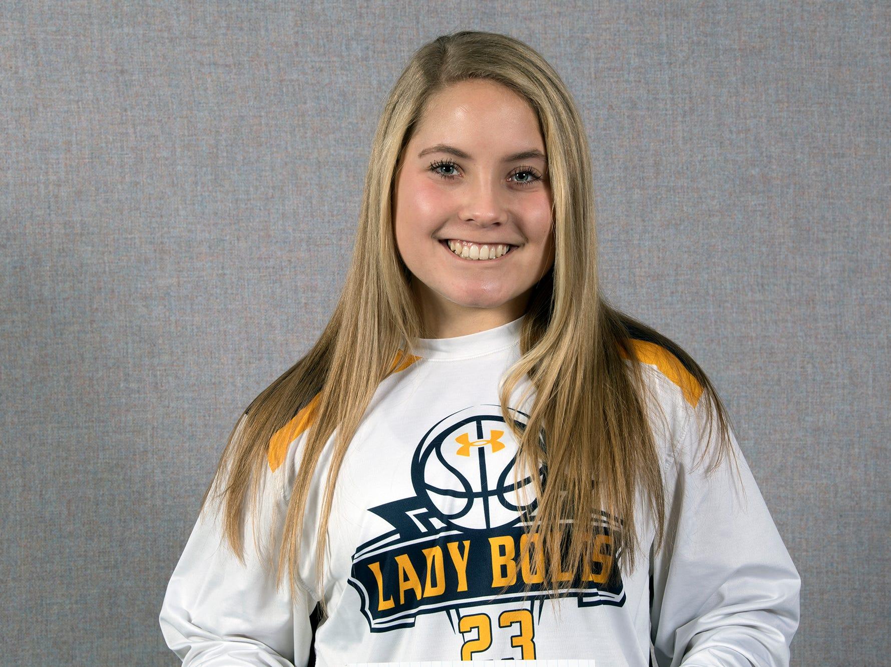 Olivia Study, of the Littlestown girls basketball team, during the 2018-19 GameTimePa YAIAA Winter Media Day Sunday November 11, 2018.