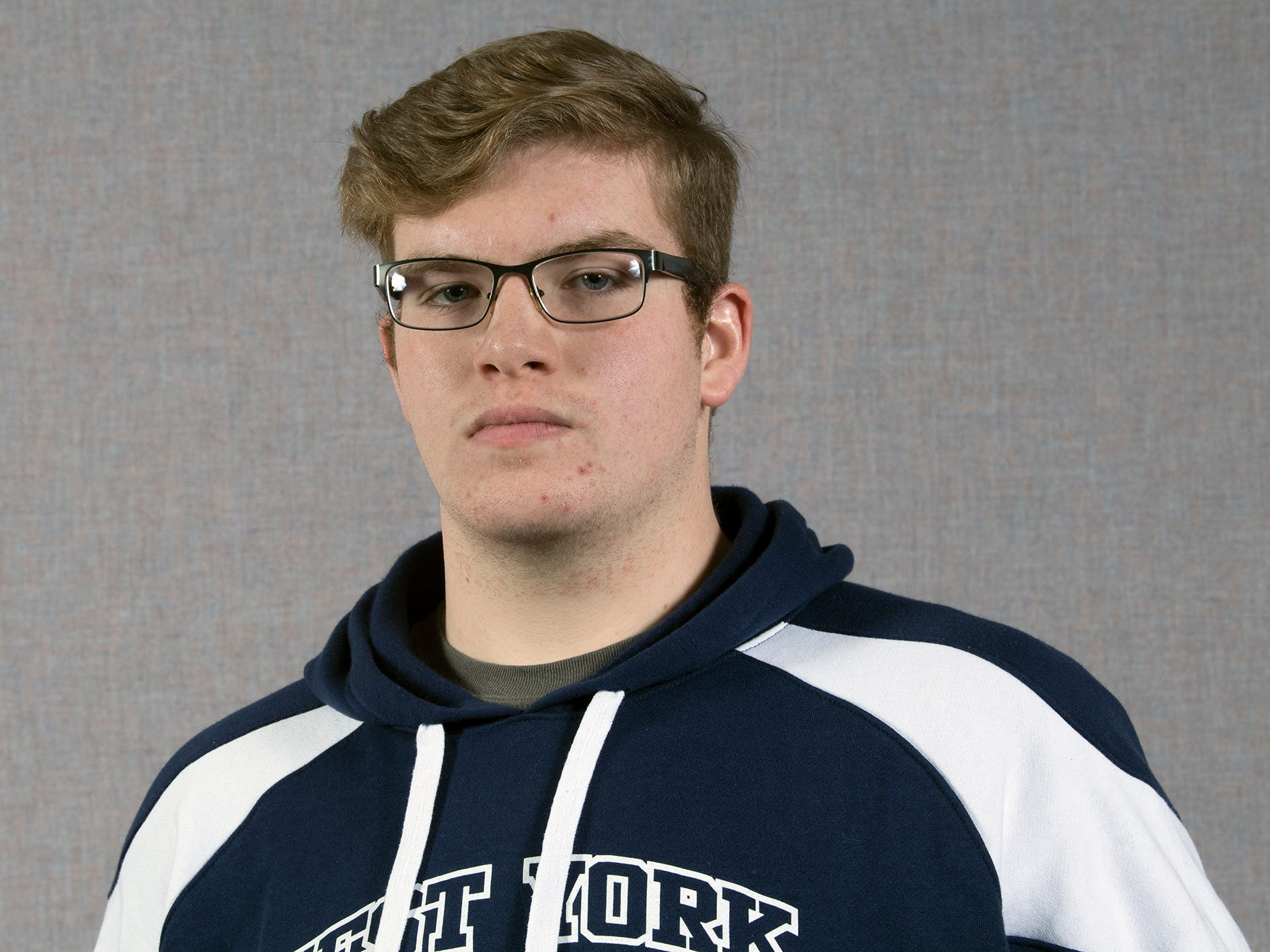 Frank Veloce, of the West York Area High School wrestling team, during the 2018-19 GameTimePa YAIAA Winter Media Day Sunday November 11, 2018.