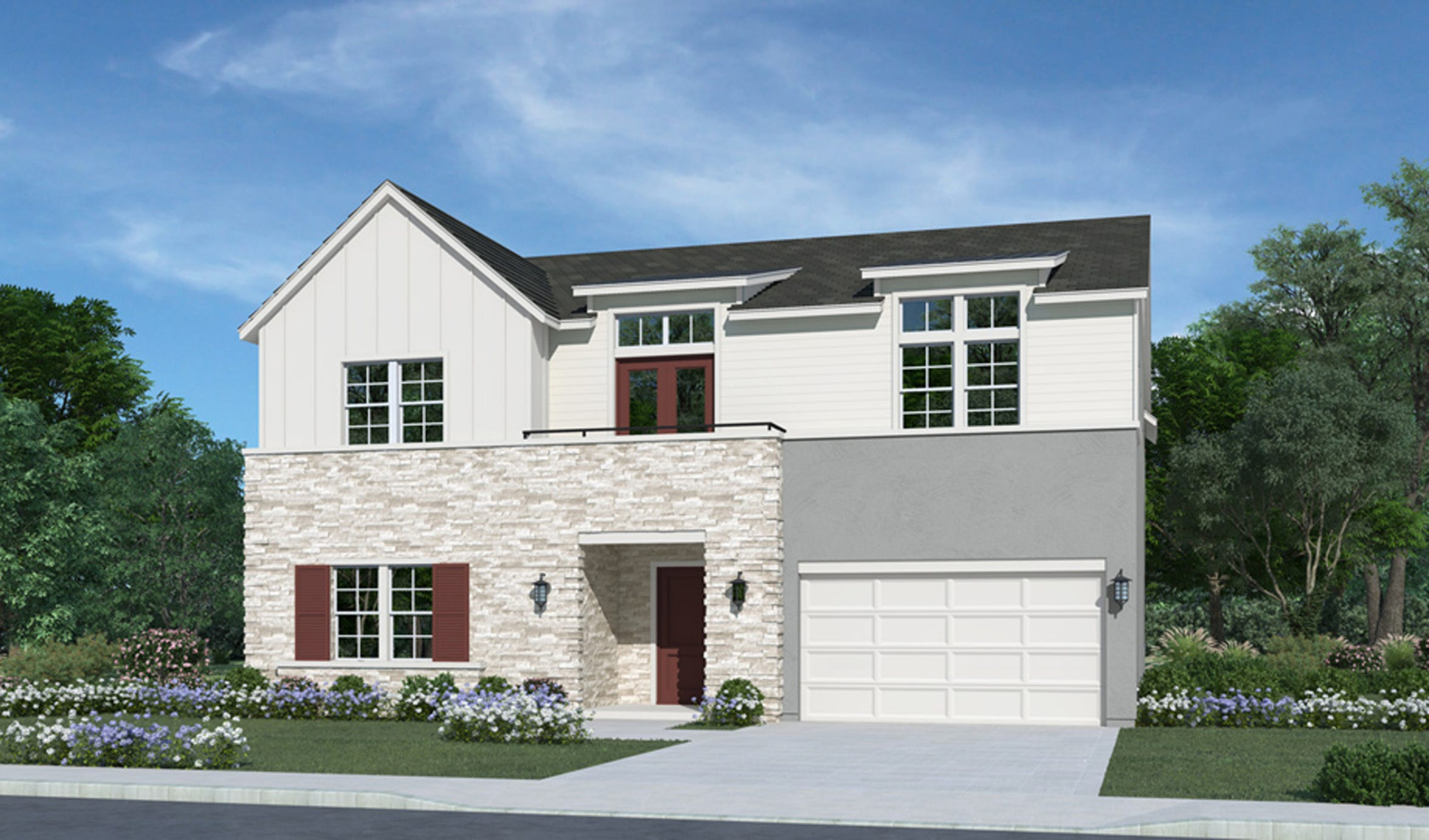 The Kinsey, one of five home designs in the new Latigo community at Rancharrah, encompasses five bedrooms and five bathrooms and begins at $929,000.