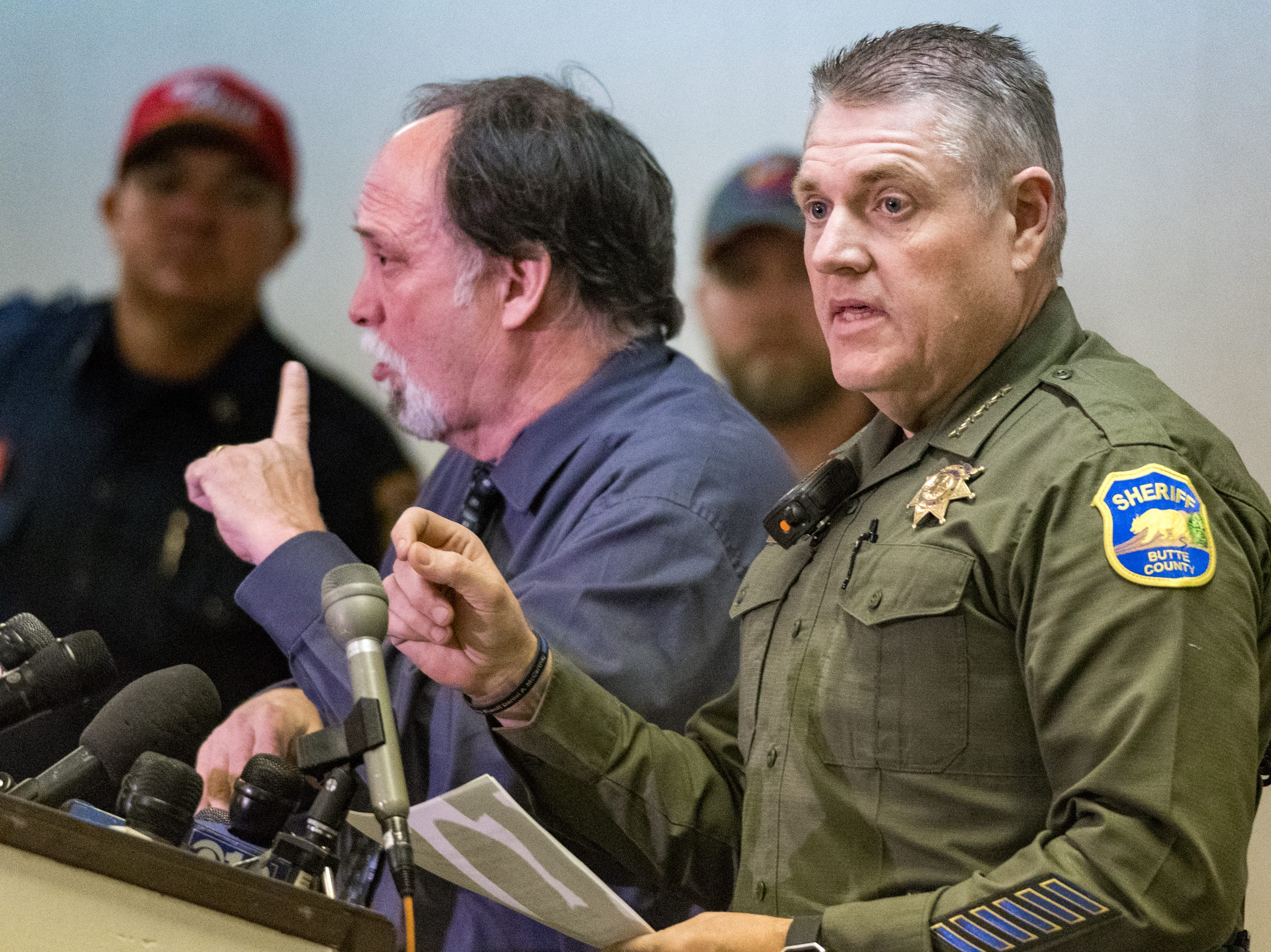 Kory L. Honea -Sheriff of Butte County speaking at Press Conference. Sunday, Nov. 11, 2018.