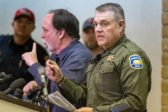 Butte County Sheriff Kory L. Honea speaks during a press conference Sunday, Nov. 11, 2018. Honea is feeling the pressure to find the missing as soon as possible.