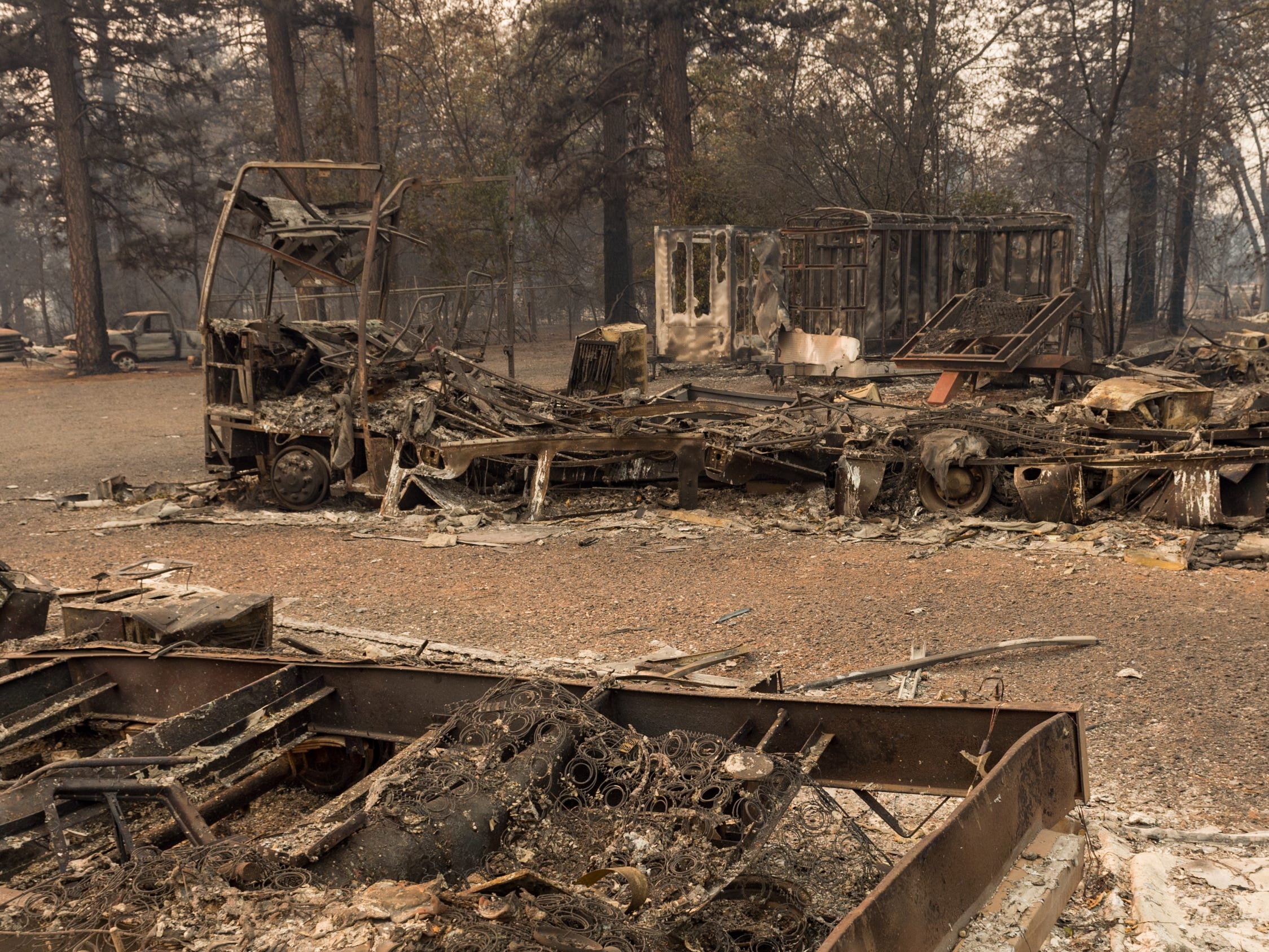 The Camp Fire swept through Paradise, CA destroying more than 6,500 structures and the death toll has risen to 23.  November 11, 2018