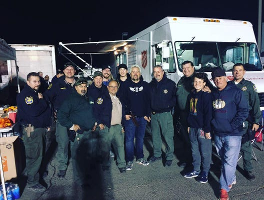 Guy Fieri Butte County Sheriff's Office Camp Fire