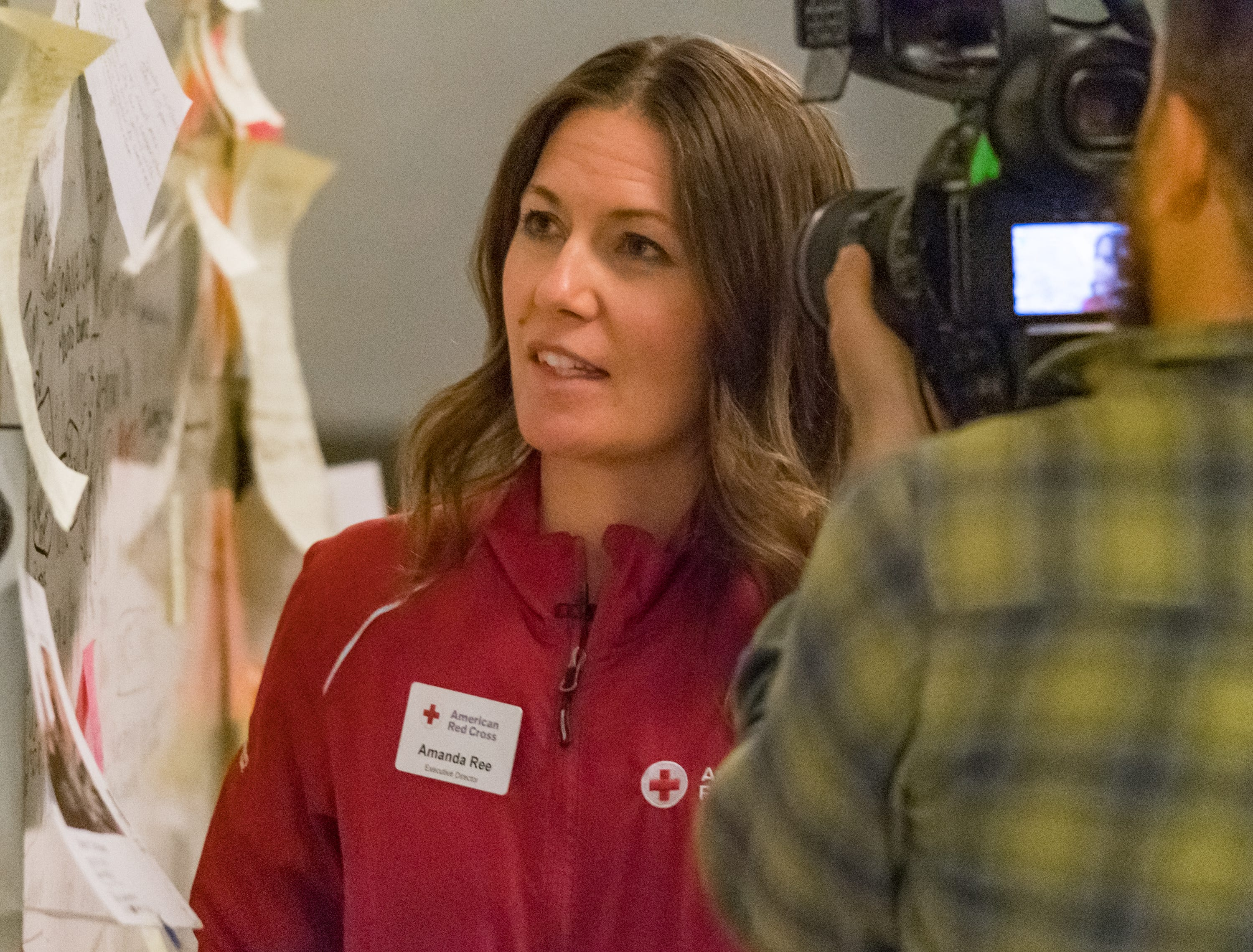 Amanda Ree - Red Cross Executive Director- Gold Country Region.  Sunday, Nov. 11, 2018.