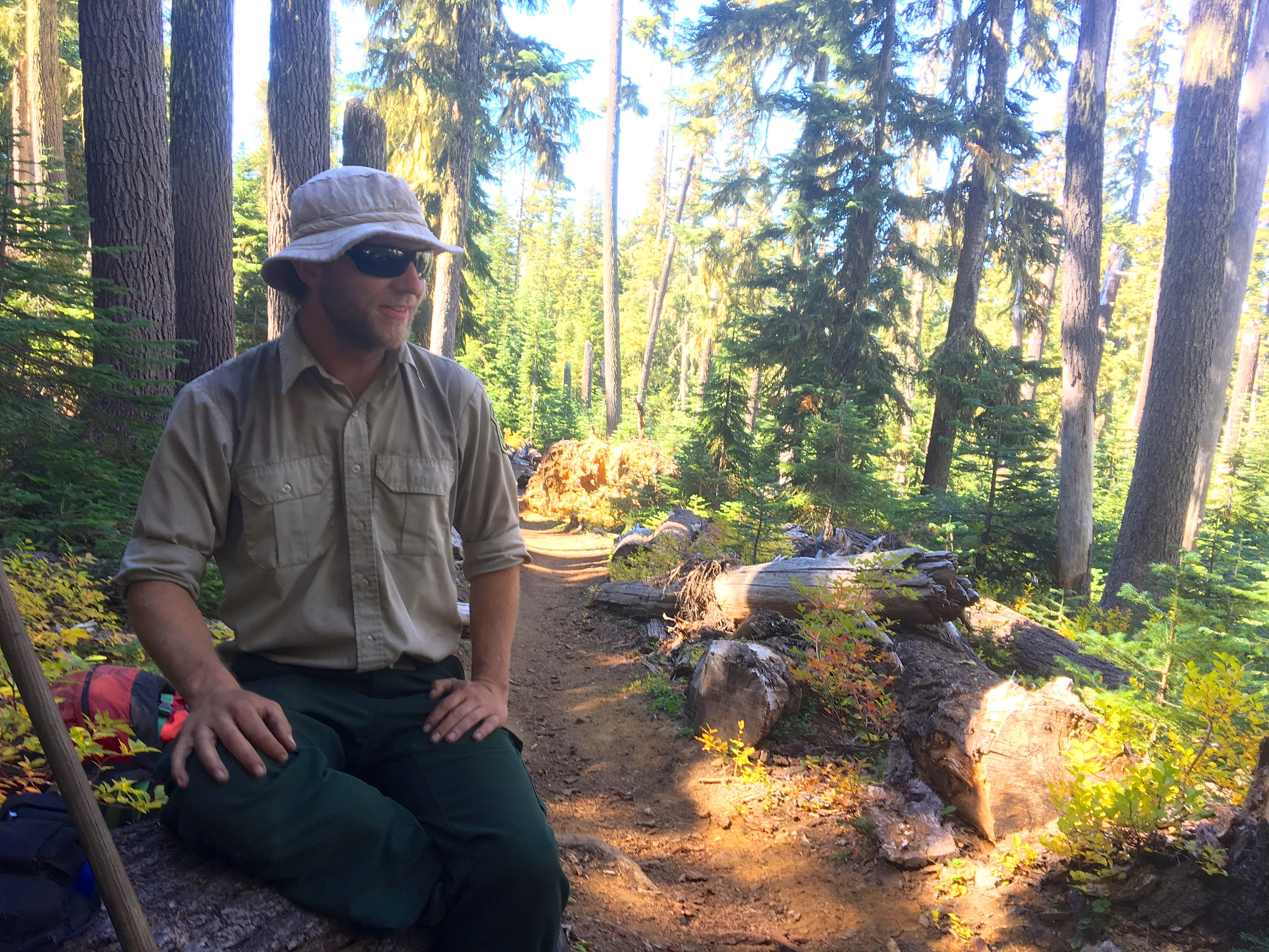 Dylan McCoy is a wilderness ranger for Willamette National Forest. He enforces the permit requirement on Obsidian Trail.