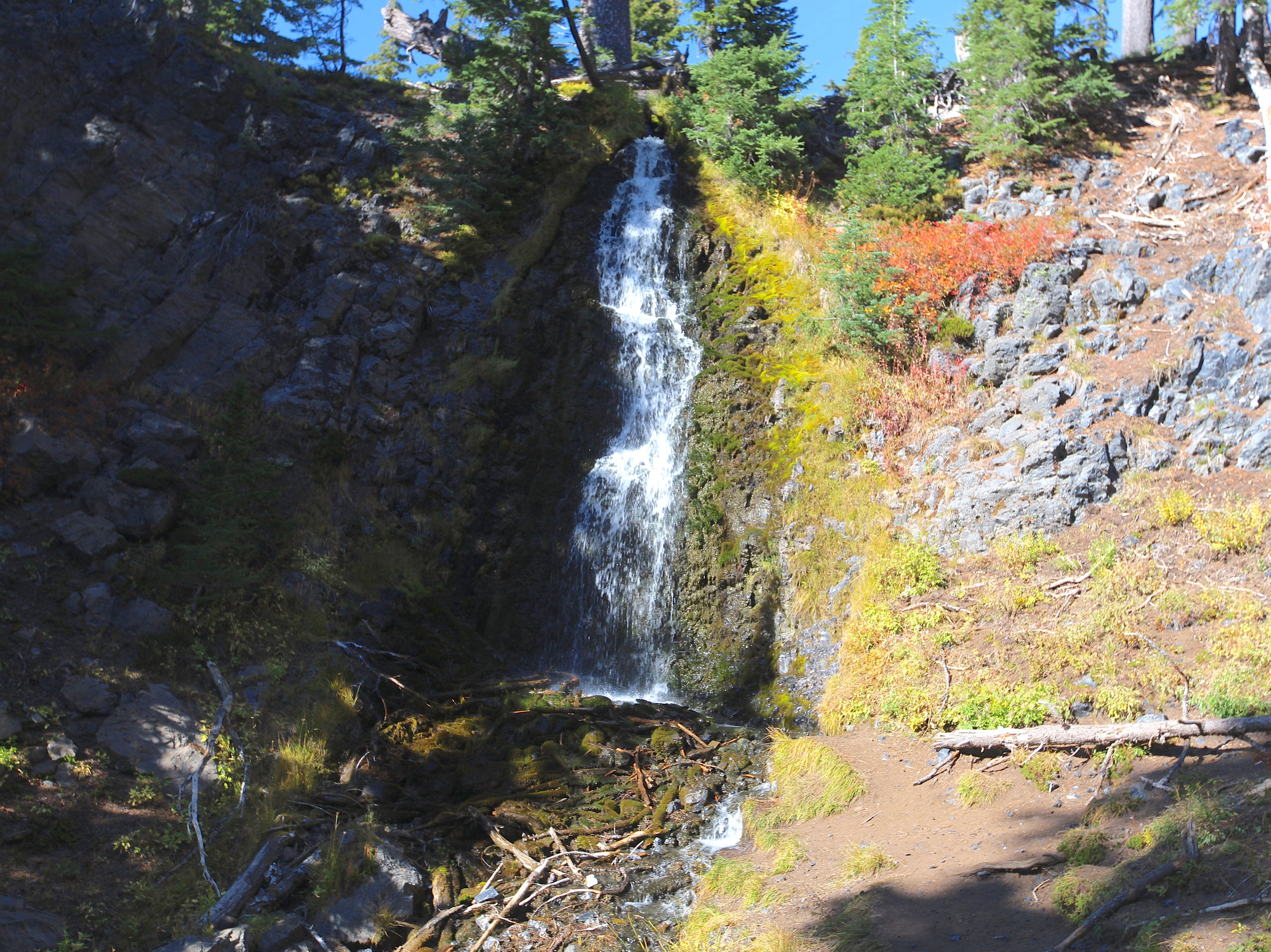 Obsidian Falls in the Obsidian Limited Entry Area.