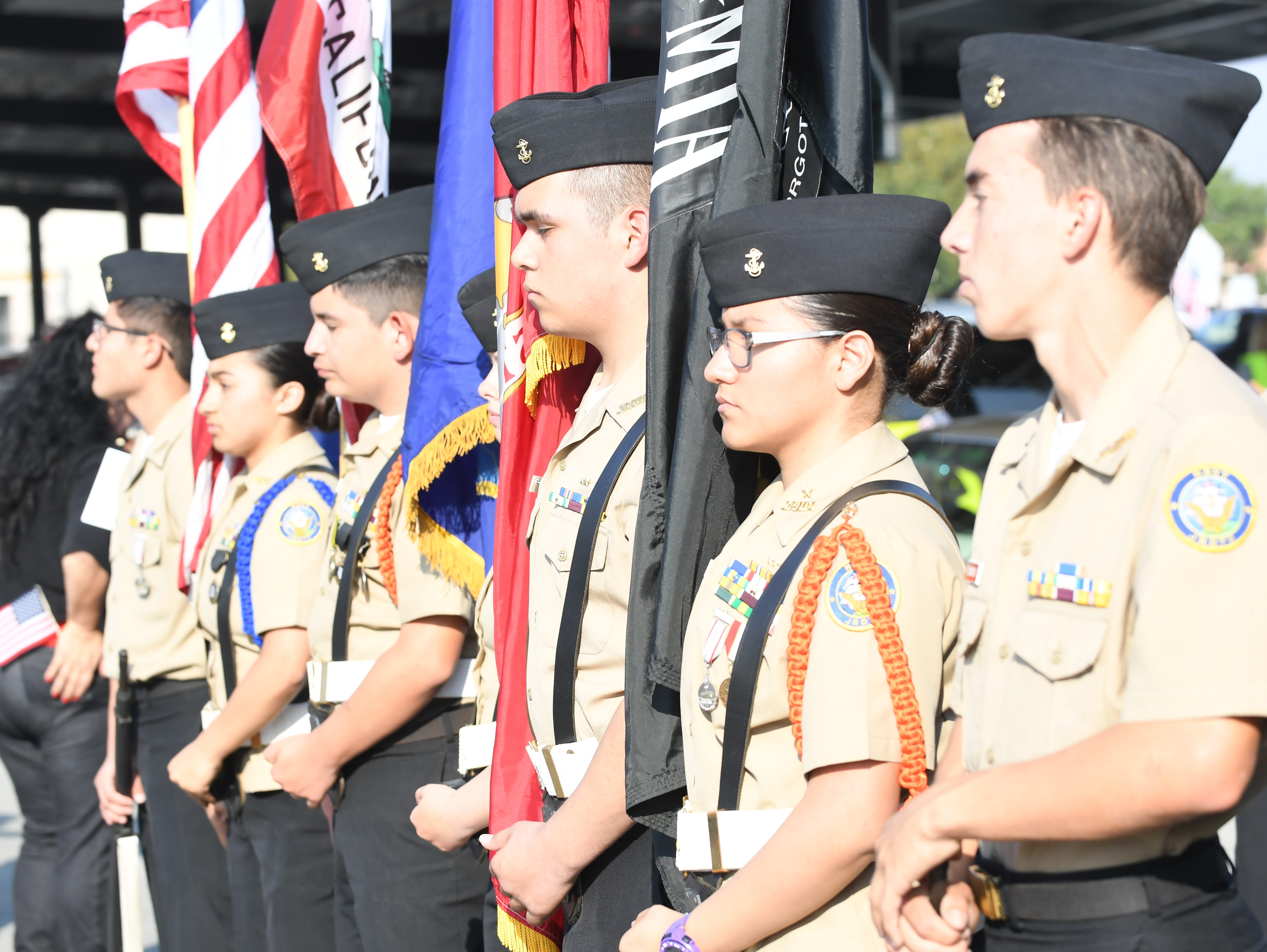 Everett Alvarez High School's Junior Reserve Officer Training Corps participated in Sunday's Monterey County Veterans Day Parade in Salinas.