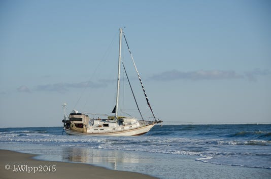 Sailboat aground